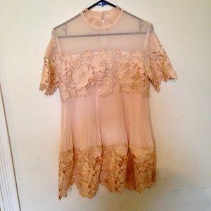 Free People X Saylor Hollie Mini Dress Nude M NWT